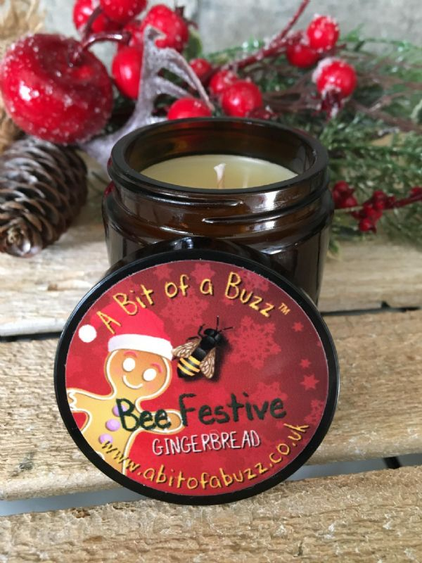 Beeswax Gingerbread Jar Candle 120g